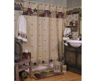 primitive Americana bathroom interior