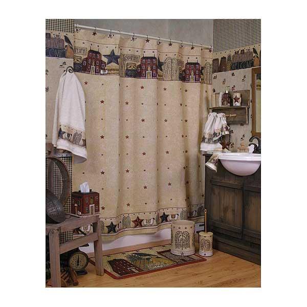 primitive Americana bathroom interior