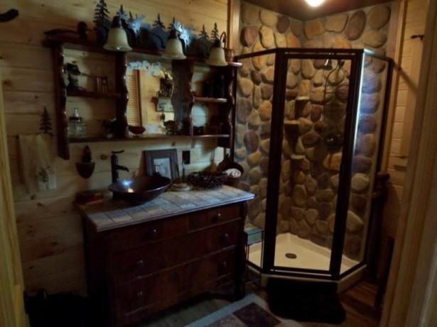 rustic cabin bath decor