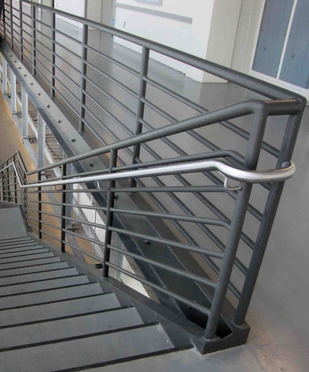 simple metal handrailings