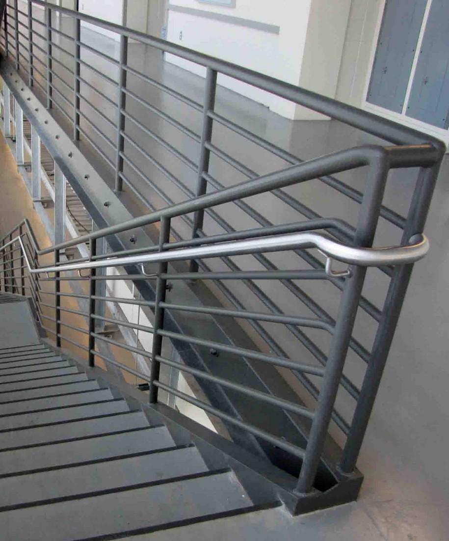 simple metal handrailings