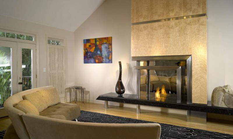 Contemporary Wood Fireplace Inserts