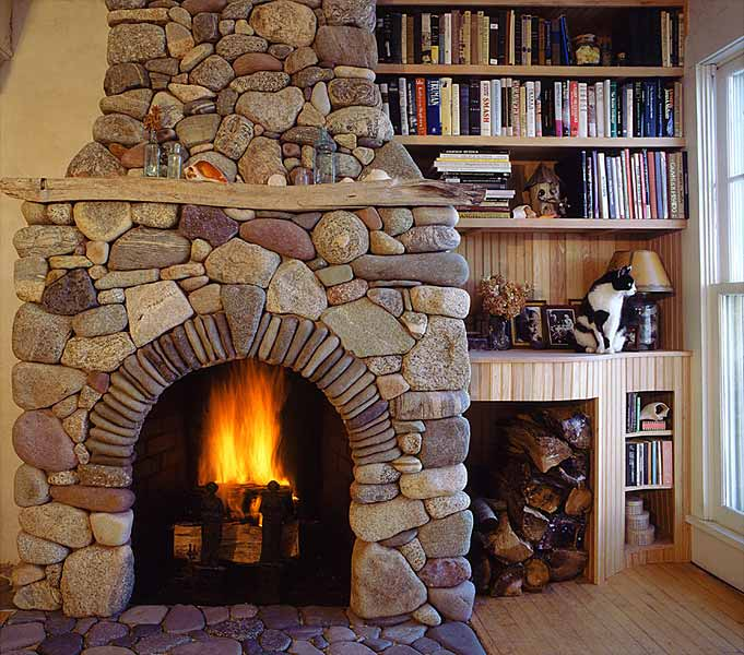 Rock and Stone Fireplace Designs