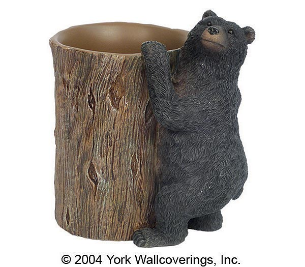 black bear bathroom tumbler