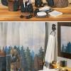 black bear lodge bathroom decor