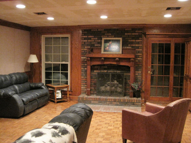 fireplace brick makeover