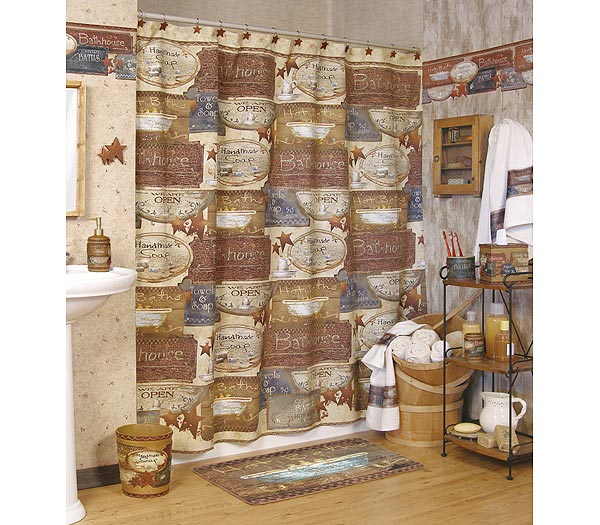 ideas for primitive country decor for bathroom walls