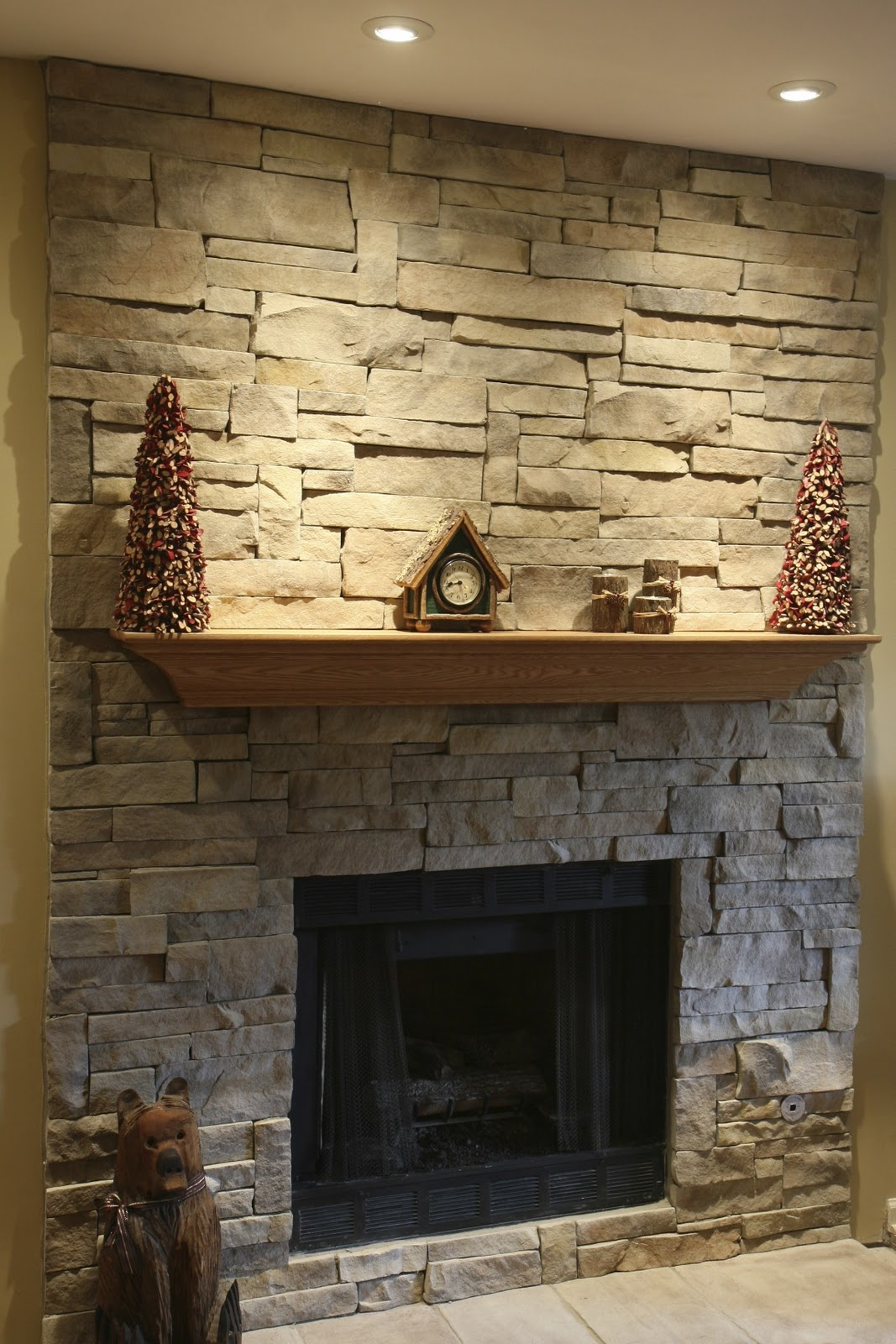 Stacked Stone Fireplaces Ideas